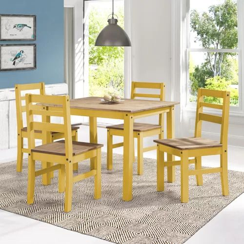 Robin 5 Piece Solid Wood Dining Set