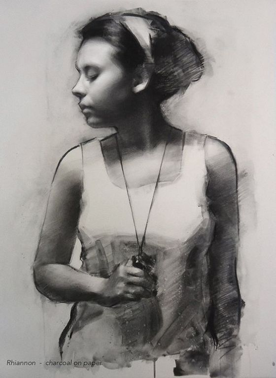 Rhiannon By Neil Nelson, Charcoal Drawing